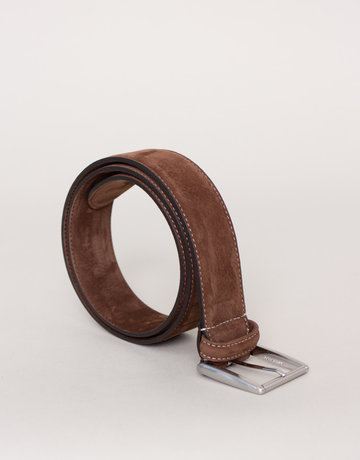 Anderson's Anderson's Suede Belt Brown