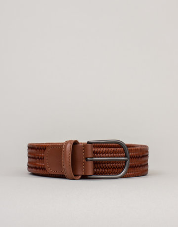 Anderson's Anderson's Woven Stretch Leather Belt Tan