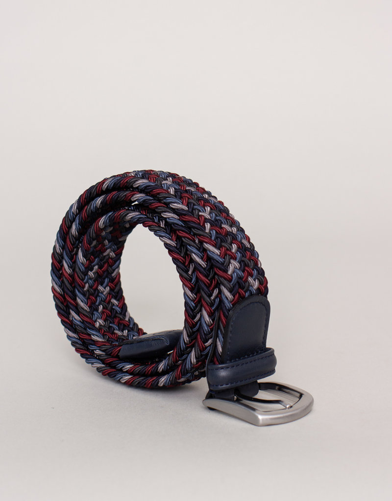 Anderson's Woven Stretch Belt Multi Red and Blue