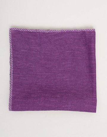 Paolo Albizzati Pocket Square Purple Linen