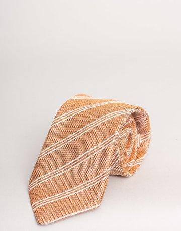 Paolo Albizzati Tie Coral Textured Stripe