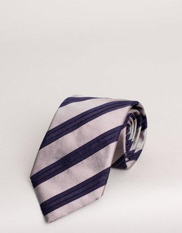 Paolo Albizzati Paolo Albizzati Tie Navy Stripes SIlver