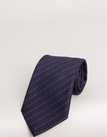 Paolo Albizzati Tie Midnight Blue Chalk Stripe