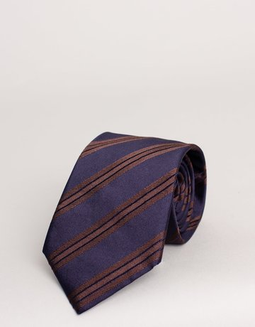 Paolo Albizzati Tie Midnight Blue Striped
