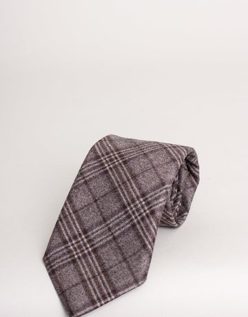 Paolo Albizzati Tie French Beige Plaid