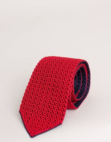 Paolo Albizzati Knit Tie Navy / Red