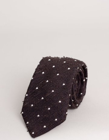 Paolo Albizzati Tie Spotted Brown