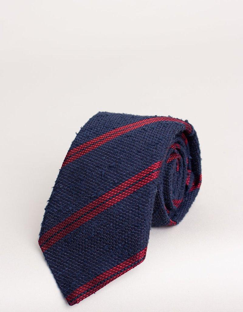 Paolo Albizzati Tie Navy Striped Red