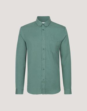 Samsoe Samsoe Liam Button Up Green Shirt
