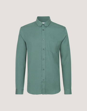 Samsoe Samsoe Liam Button Up Green Shirt