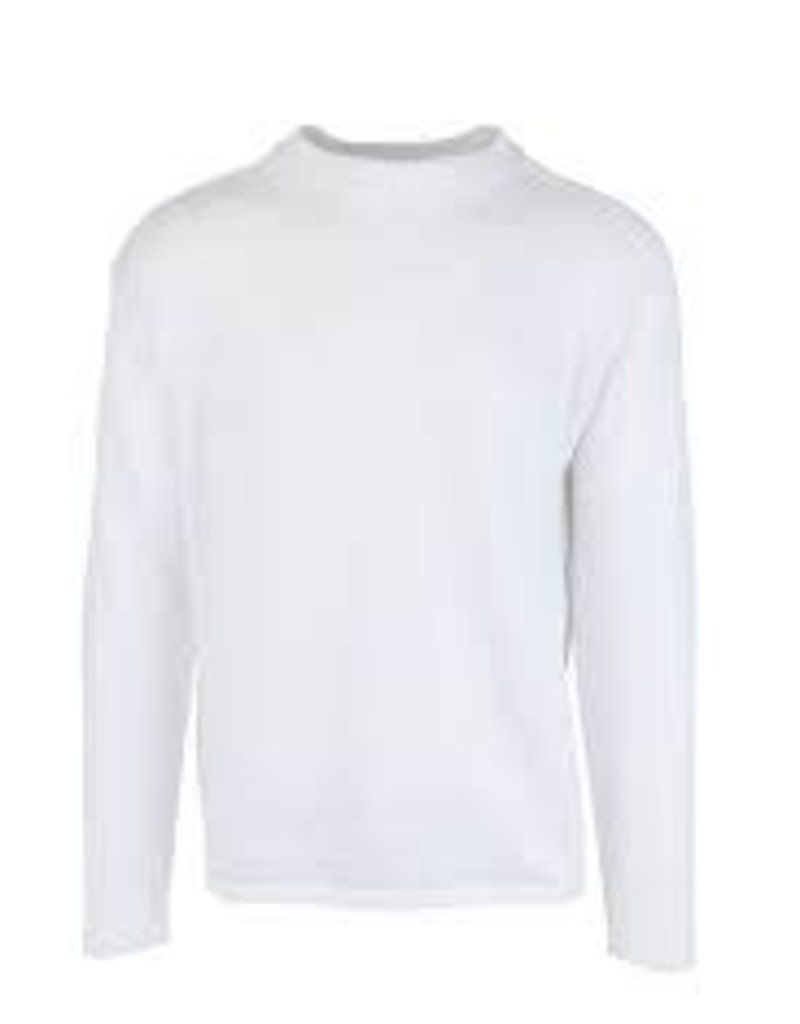 Inis Meain Inis Meain Linen Sweater Crew Neck White