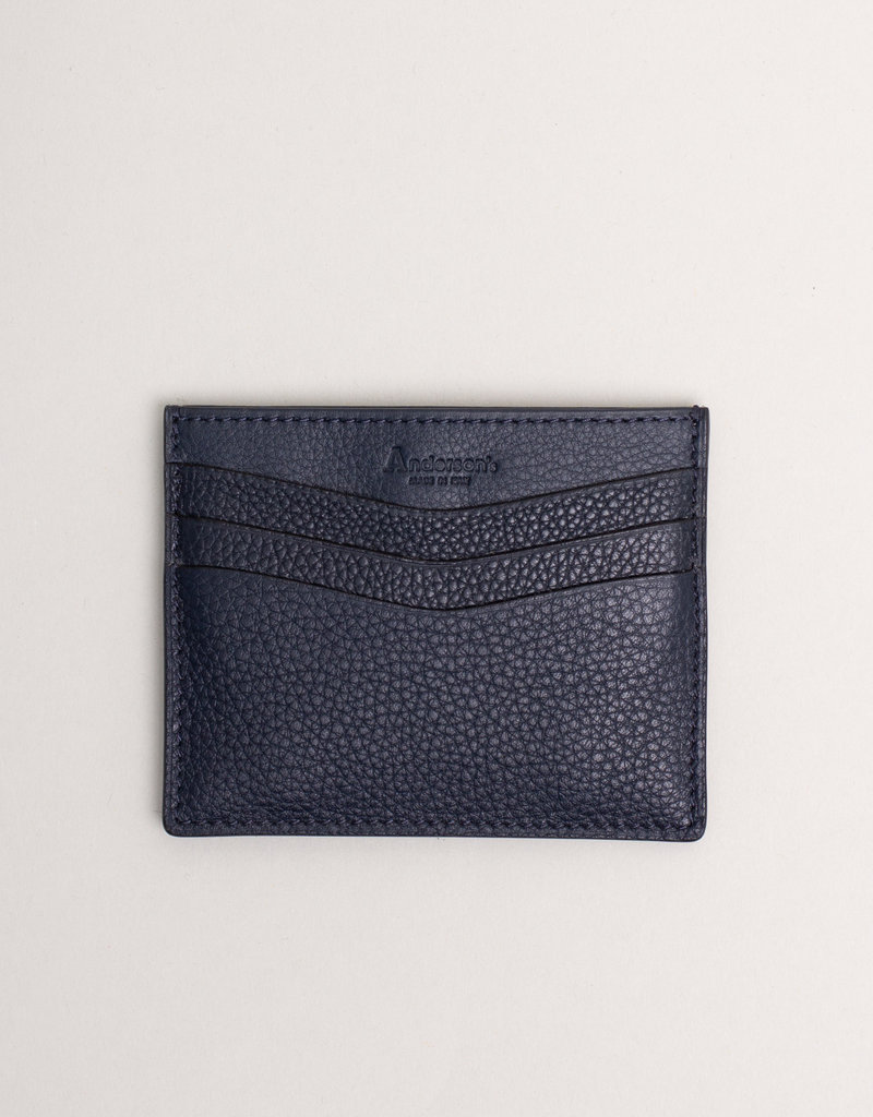 Anderson's Leather Card Holder Wallet Navy