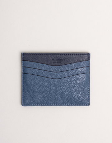 Anderson's Leather Card Holder Wallet Blue Cobalt