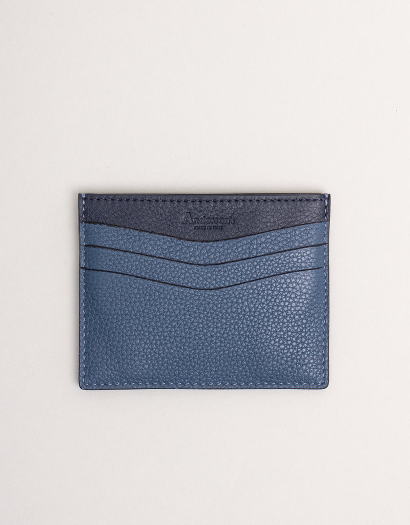 Anderson's Belts and Wallets Anderson's Leather Card Holder Wallet Blue Cobalt