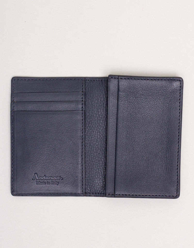 Anderson's Belts and Wallets Anderson's Leather Wallet Navy