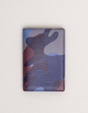 Anderson's Leather Wallet Blue Camouflage
