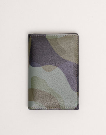 Anderson's Leather Wallet Green Camouflage
