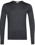 John Smedley John Smedley Pull Over Wool Sweater Charcoal