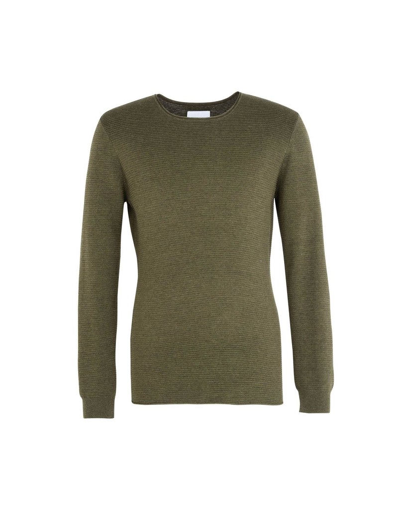 Samsoe Samsoe Textured Crew Neck Sweater Green