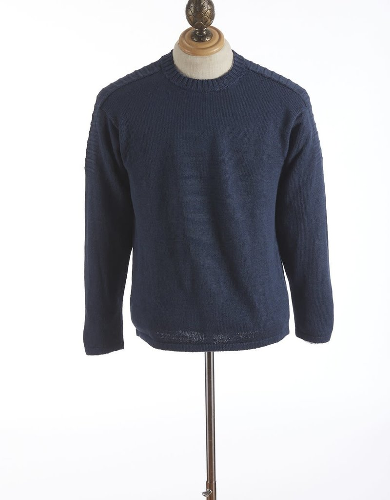 Inis Meain Inis Meain Linen Stretch Crew Neck Navy