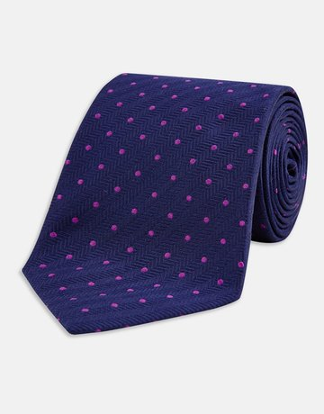 Turnbull & Asser Turnbull & Asser Tie Spotted Purple