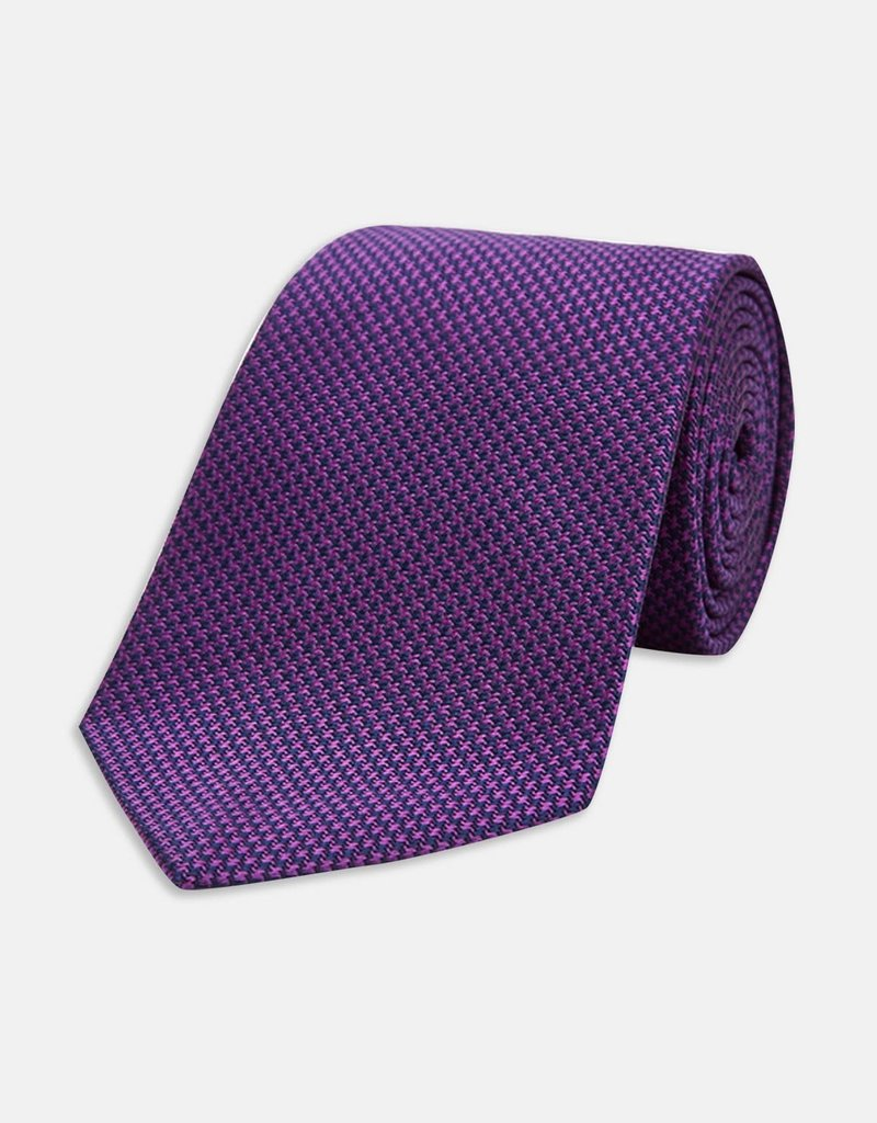 Turnbull & Asser Turnbull & Asser Tie Rich Eggplant Houndstooth