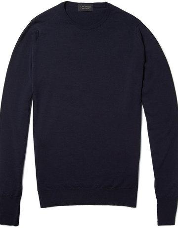 John Smedley John Smedley Marcus Crew Neck Sweater Blue