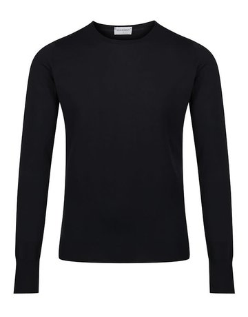 John Smedley John Smedley Marcus Crew Neck Sweater Black