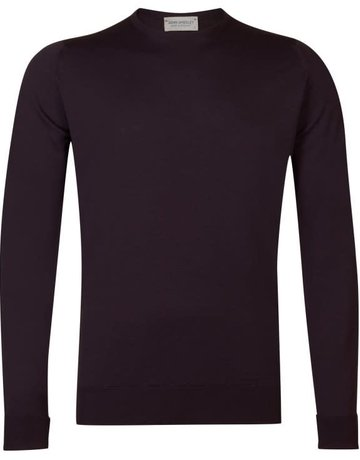 John Smedley John Smedley Marcus Crew Neck Sweater Purple