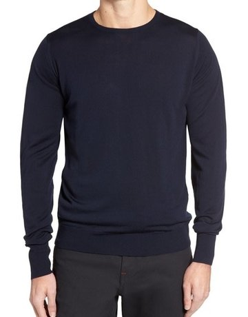 John Smedley John Smedley Marcus Crew Neck Sweater Midnight Blue