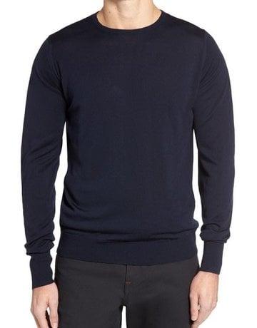 John Smedley John Smedley Marcus Crew Neck Sweater Midnight Blue
