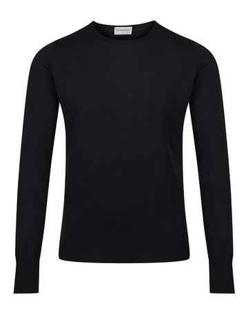 John Smedley John Smedley Pull Over Wool Sweater Black