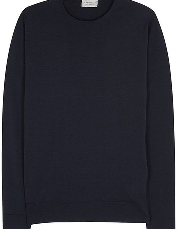 John Smedley John Smedley Pull Over Wool Sweater Navy