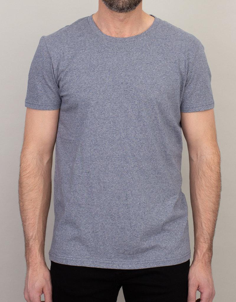 Samsoe Samsoe Crew Neck T-Shirt Marbled Blue