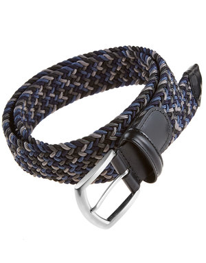 Anderson's Belts and Wallets Anderson's Woven Stretch Belt Multi Green and  Dark Blue