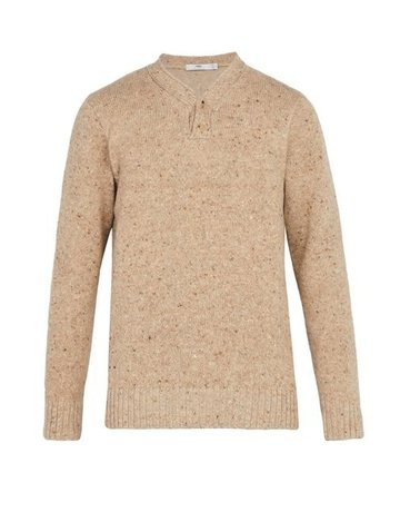 Inis Meain Inis Meain Plated Hurler Beige Knit