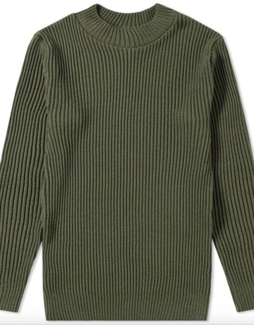 S.N.S. Herning S.N.S Herning Patent Crew Neck Army Moss