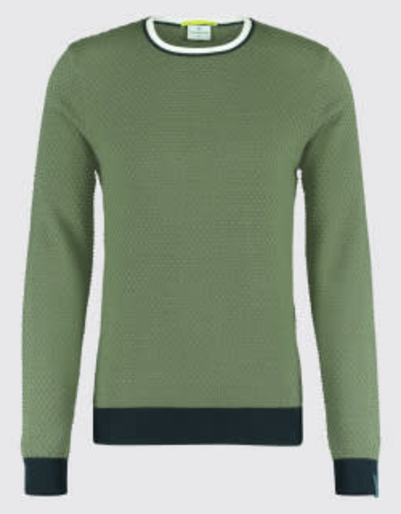 Blue Industry Blue Industry Waffle Crew Knit Shirt Green