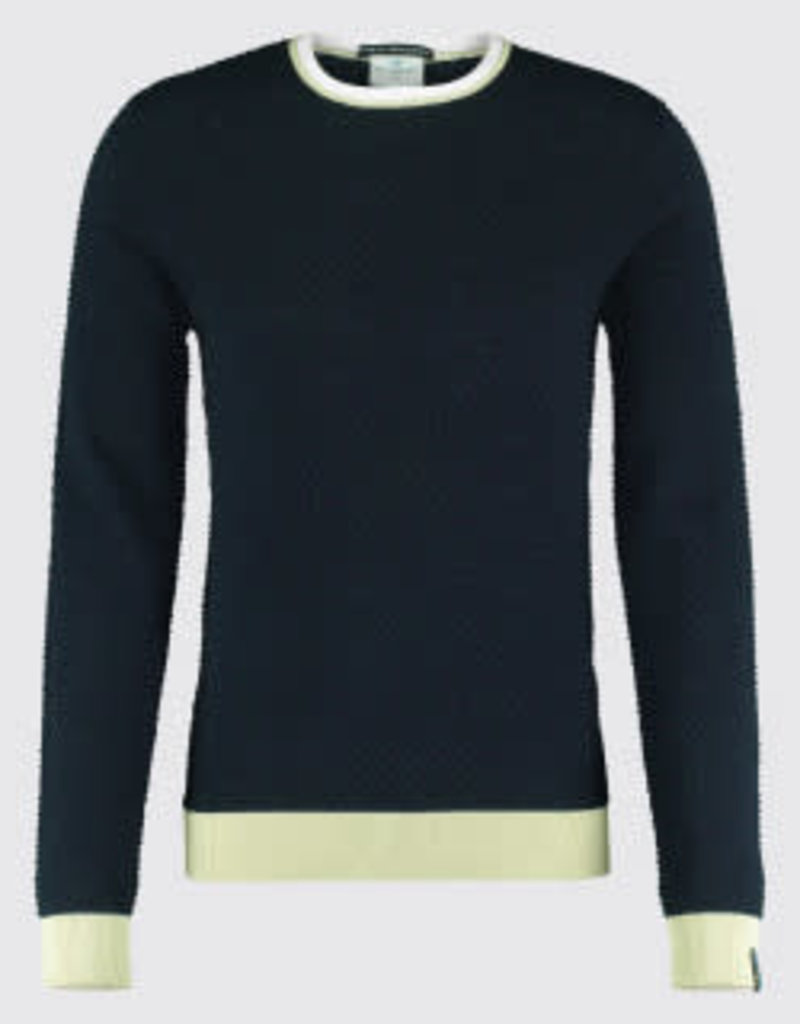 Blue Industry Blue Industry Waffle Crew Knit Shirt Navy