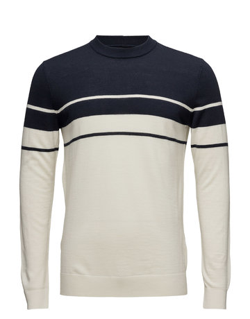 Samsoe Samsoe Mask  Sweater Navy and White