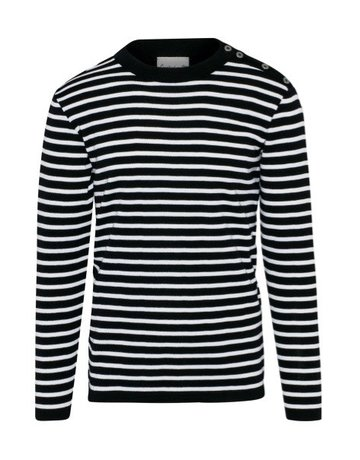 S.N.S. Herning S.N.S Herning Rund Crew Neck Navy and White Knit