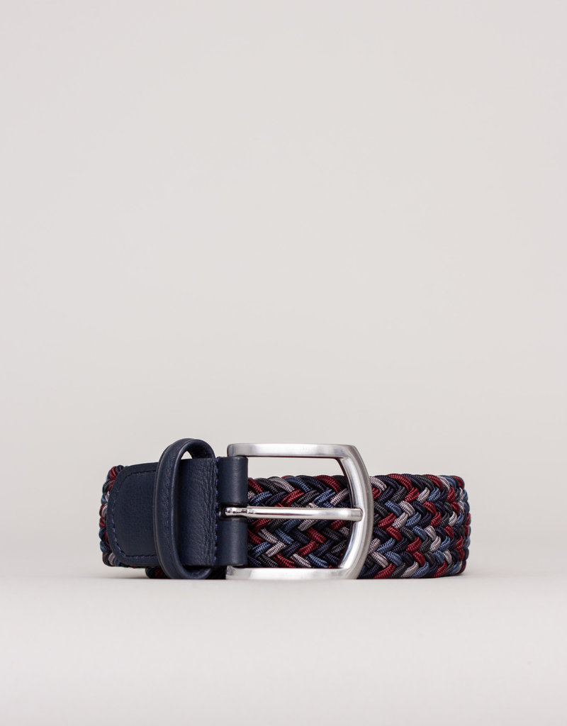 Anderson's Belts and Wallets Anderson's Woven Stretch Belt Multi Red and Blue