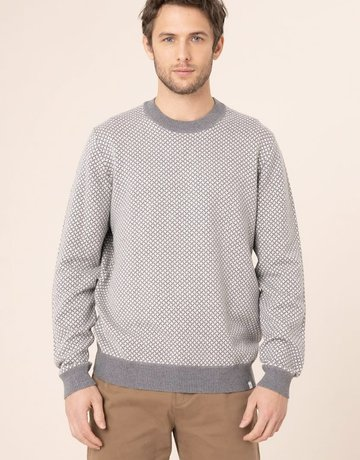 Harris Wilson Harris Wilson Jasper Grey Basket Weave Sweater