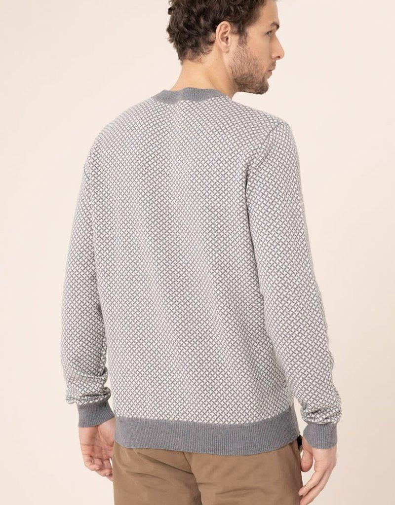 Harris Wilson Harris Wilson Jasper Grey Basket Weave Sweater