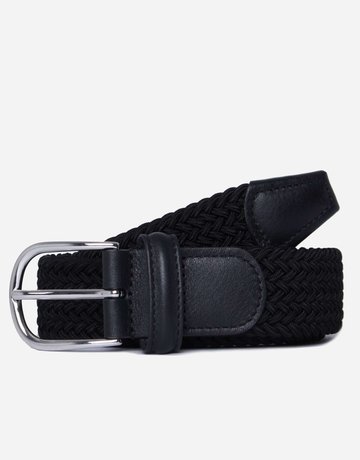 Anderson's Belts and Wallets Anderson's Woven Stretch Belt Black