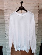 Inis Meain Inis Meain Pique Stitch Sweater White
