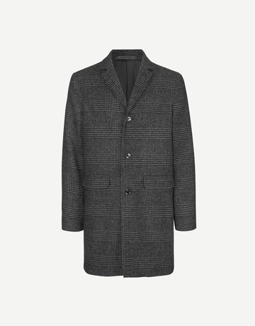 Samsoe Samsoe Grin Coat Black Check