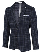 Blue Industry Blue Industry Blazer Navy/White Window Pane