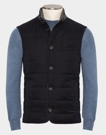 Manto Manto Colli Navy Trim Vest
