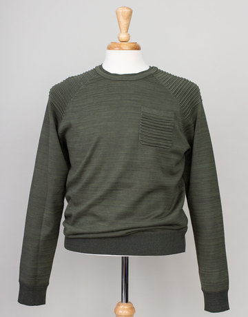 Blue Industry Blue Industry Ribbed Crew Neck Sweater Green
